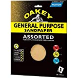 Norton Oakey Allzweck Sandpaper - 280 x 230 mm Assorted - (1 x C, 4 x M, 2 x F)
