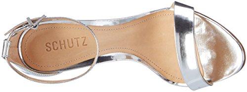 Schutz S2-01480016s, Bride cheville femme Silber (Prata)