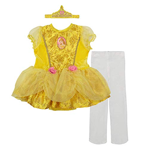 Disney Princess Belle Baby Girls' Costume Tutu Dress, Headband and Tights