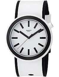 Swatch Unisex-Armbanduhr Analog Quarz Silikon PNW100