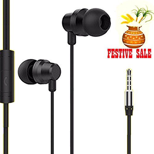 Upgraded Bell (BELL- BLHFK-612) extreme durable Metal subwoofer series Universal 3.5mm Headphone with MIC High-Fidelity Metal bass Earphones, compatible with Apple, Samsung, Coolpad, Xiaomi, Redmi, Sony, Lenovo, Vivo, Gionee, Oppo, Micromax, Intex, Lava, LG, Nokia, All Android and I phone series and Tablets, Laptops and Desktops-BELL-UP-HS-019-BLACK  available at amazon for Rs.339