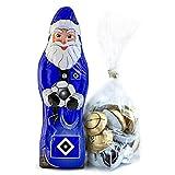 Hamburger SV Schokoladen Weihnachtsmann, Schoko Nikolaus (150 g) HSV Plus gratis Fussball-Schokoladenmischung (150g)