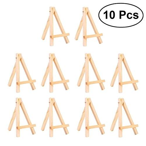ULTNICE Mini-Holzständer Staffelei für Handwerk Zeichnung Foto Frame Art 10pcs Größe S