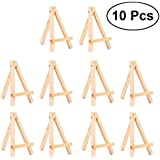 ULTNICE Mini Wooden Display Easel Stand for Craft Drawing Photo Frame Art 10pcs Size S