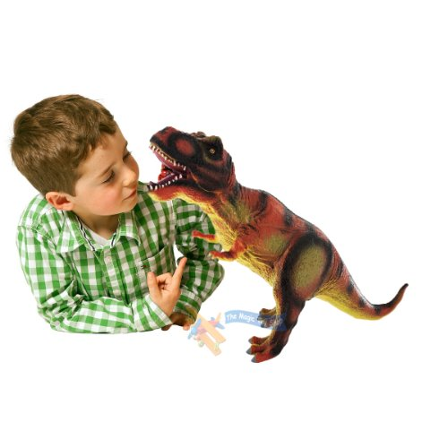 Image of 36cm Large Soft Foam Rubber Stuffed Dinosaur Play Toy Animals Action Figures
