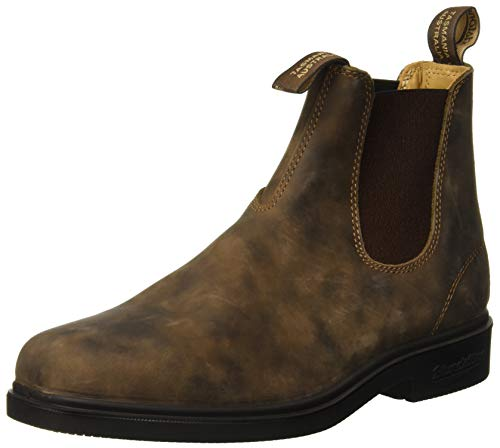 Blundstone 1306 - Chisel Toe, Unisex-Erwachsene Kurzschaft Stiefel, Braun (Rustic Brown), 41 (7 UK)