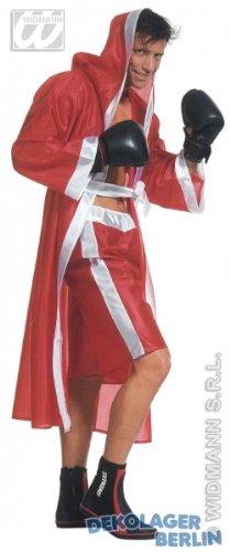 Girl Fancy Boxer Dress Kostüm - Widmann-WDM35273 Erwachsenenkostüm für Frauen, Rot/Weiß/Rot / WDM35273