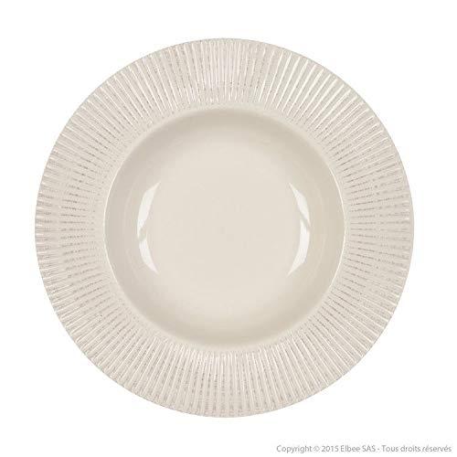 Delamaison Assiette Creuse faïence 24 cm (Lot de 6) Thelma