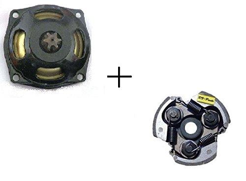 Kupplungsglocke + Kupplung 47/49 ccm - Set - 7 Zähne 25H- Pocketbike - Rocketbike 49 ccm Dirtbike Kinder Motorrad mini Quad 25H