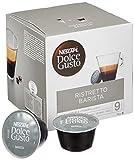 NESCAFÉ Dolce Gusto Ristretto Barista | 48 Kaffeekapseln | Kräftiger Espresso | Robusta und Arabica Bohnen | dunkle Röstung| Dichte Crema | Aromaversiegelte Kapseln | 3er Pack (3 x 16 Kapseln)