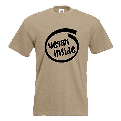 KIWISTAR - vegan inside T-Shirt in 15 verschiedenen Farben - Herren Funshirt bedruckt Design Sprüche Spruch Motive Oberteil Baumwolle Print Größe S M L XL XXL Khaki