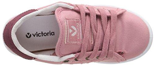 VictoriaDeportivo Basket Lona Tintada - Scarpe da Ginnastica Basse Unisex - Bambini Rose (170 Nude)