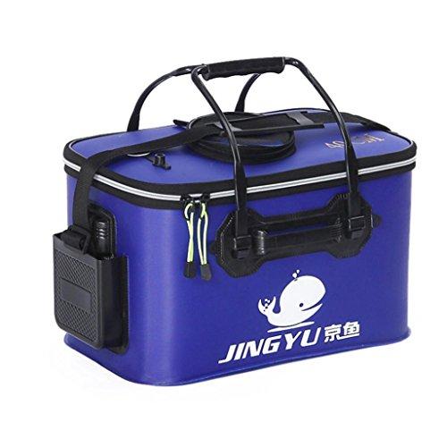 Livecity Portable Pliable Pêche pliable Seau extérieur Corps Outil de camping de voyage, bleu, 50