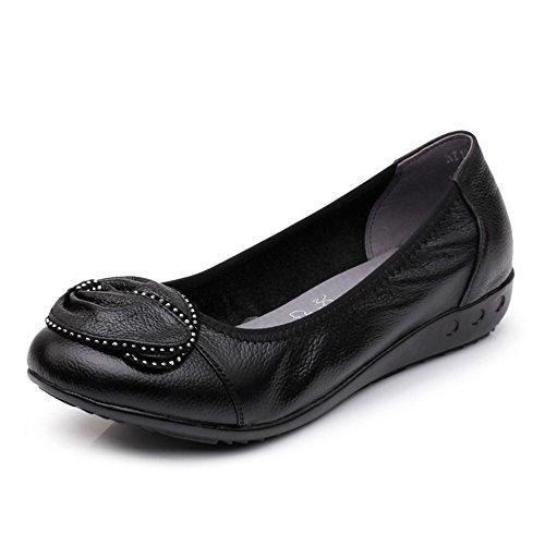 Chaussures plates pour femmes/Maman et chaussures de fond mou/Plus size casual chaussures femme A