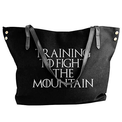 Fashion Training To Fight The Mountain Fantasy TV Show inspirierte Schultertasche Canvas Handtasche Tote Bag -