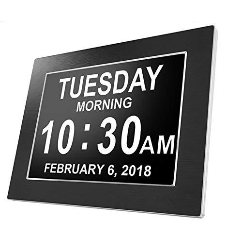 8 Zoll Digital Calendar Day Clock für ältere Menschen, Memory Loss Clock, Kalenderuhr Auflösung Wanduhr