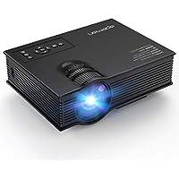 APEMAN Mini Vidéoprojecteur LED Multimédia Portable 1200 Lumen/Théâtre Domestique/pour Cinéma et Jeux vidéo/Regarder Coupe du Monde FIFA/Support 1080P HD Vidéo Entrées avec IR USB SD HDMI