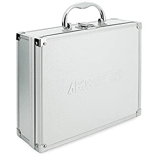 AR Carry Box® Kleiner Alukoffer Werkzeugkoffer Aluminium Koffer leer 260x210x80mm Farbe Alu/Silber