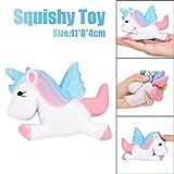 Squishies Slow Rising Jumbo Squeeze Soft Toys, vneirw kawaii Einhorn Duft Stress Relief Spielzeug 11*8*4cm rose