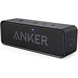 Anker SoundCore Bluetooth Speaker Portable Bluetooth 4.0 Stereo Speaker with 24-Hour Playtime, 6W Dual-Driver, Low Harmonic Distortion, Patented Bass Port and Built-in Microphone for Calls for iPhone, iPod, iPad, Samsung, LG