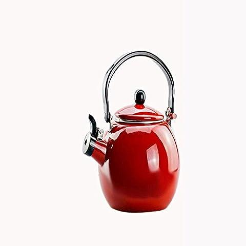 1 8L Orange Rot Weiß Rostfreier Stahl Wasserkocher Red
