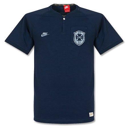 Nike Brasil Cbf Covert Future T-shirt à col boutonné pour homme Motif  insigne CBD d66dc3db58937