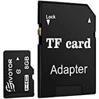 EIVOTOR Tarjeta de Memoria MicroSDHC con Adaptador SD de 4 GB 8 GB 16 GB 32 GB, Clase 10 Universal TF Flash, Ideal para Cámara Digital, MP3, Móvil, Tableta, etc. - 8GB