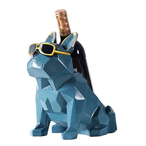 Like More Einfache Weinregal Weinschrank Dekoration Ornamente Hund Form Nordischen Stil Wohnzimmer Dekoration,Darkblue -