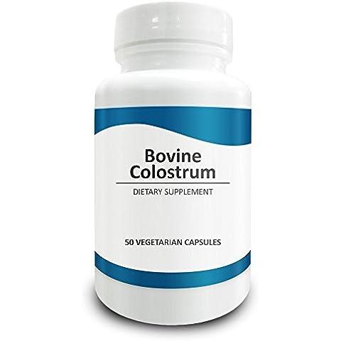 Pure Science Calostro Bovino (Inmunoglobulina >/20%) 500mg – Apoyo al sistema inmunitario y digestivo. Potente antioxidante. Mejora la energía – 50 cápsulas vegetarianas.
