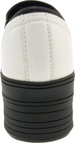 Maxstar C50 basse-dessus de la plate-forme antidérapante Ons Baskets chaussures Blanc - TC-White
