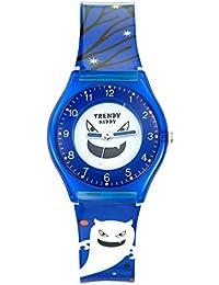 Trendy Kiddy - KL 348 - Montre Mixte - Quartz Analogique - Cadran Multicolore - Bracelet Plastique Bleu