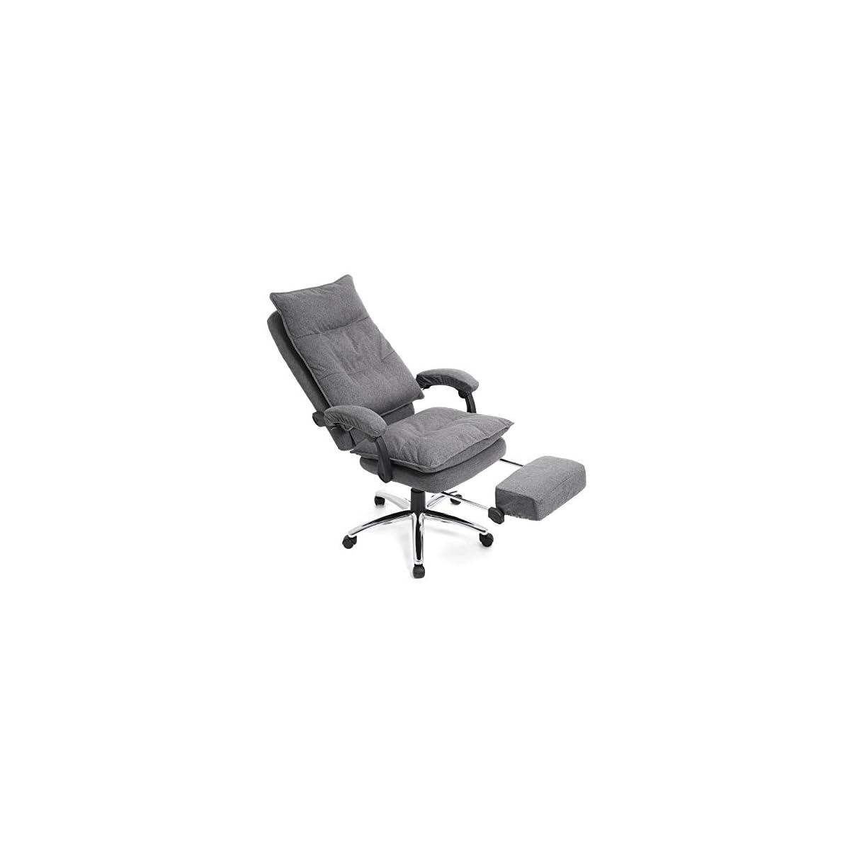 411DVfULBsL. SS1200  - SONGMICS Silla de Oficina con Asiento expandido, Altura Ajustable, Diseño ergonómico OBG78GY