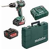 Metabo Akkuschrauber BS 18 LT BL (2x 4,0 Ah Akku inkl. Ladegerät, 18 V, 2 Gang, Brushless, Drehmoment-Stufen 22+1, inkl. Koffer)