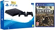 Sony PS4 1TB Slim Console with Additional Dualshock Controller (Black) + Days Gone - (PS4)