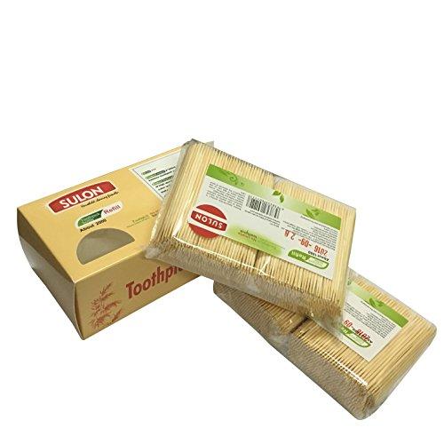 Bambus-Partei Zahnstocher, natürliche Frucht Picks, Ersatzvorzugs Paket beinhaltet 2 / 2000ct