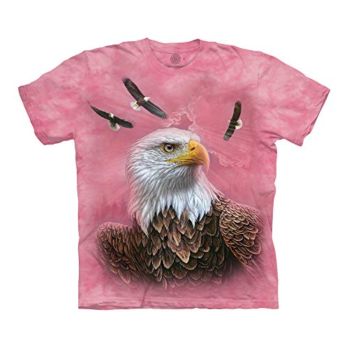 The Mountain Unisex-Erwachsene Guardian Eagle T-Shirt, Rose, 4X-Large - Eagle Damen Rosa T-shirt
