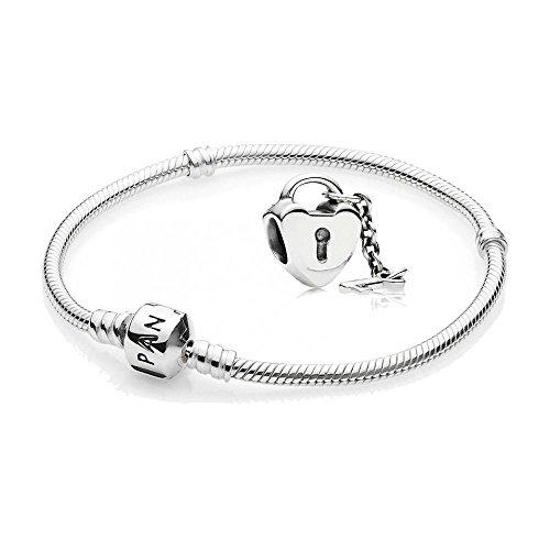 Original-Pandora-Geschenkset-1-Silber-Armband-590702HV-18-und-1-Silber-Element-790971-Schlssel-zu-meinem-Herzen