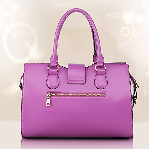 ANNE Borsa in pelle borse Messenger Platinum Bag Purple