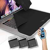 CLEAN SCREEN WIZARD Microfibra Macbooks pulitore/Protezione della Tastiera Sottile, Tastiera trackpad, Panni touchpad coperchi (4pack Fascio)