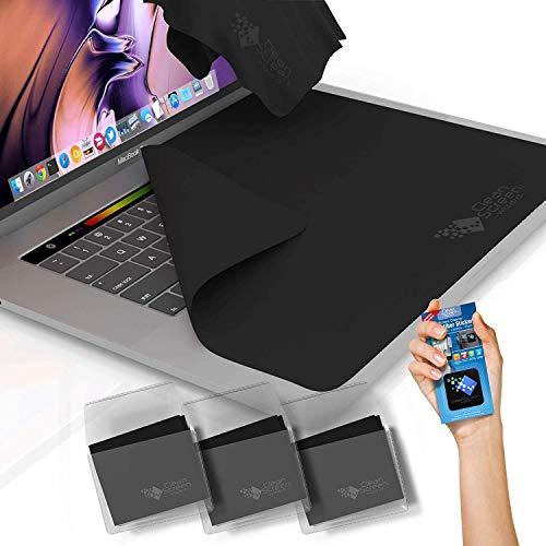 CLEAN SCREEN WIZARD Mikrofaser MacBook Pro 13 -Tastatur- und Bildschirmschutz Reiniger/3- Laptop Tastaturschutz Tüchern Abdeckungen- und Aufkleber Bildschirmreiniger (Bündel 4Pack) -