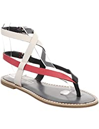 Tommy Hilfiger Iconic Flat Strappy Sandal, Chanclas para Mujer