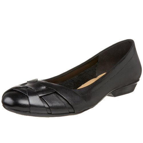 Naturalizer Maude Rund Leder Wohnungen Black Leather