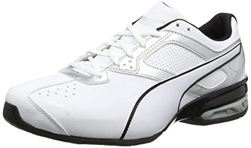 Puma Herren Tazon 6 FM Laufschuhe, Weiß White Silver Black 01, 44.5 - Schuhe Puma Sneaker Herren