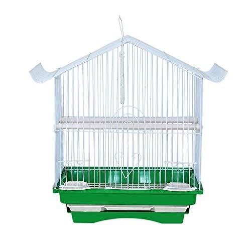 QQW Tragbarer, hängender Vogelkäfig for kleine Papageien Quaker Nymphensittiche Sun Parakeets Grüne Wange Conures Finken Canary Budgies Lovebirds Travel Bird Cage -