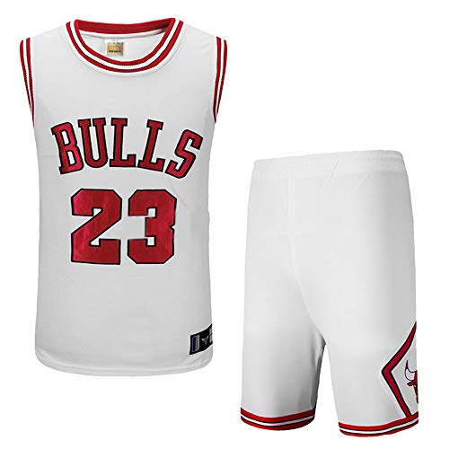 Herren NBA Michael Jordan # 23 Chicago Bulls Stickerei Retro Basketball Shorts Sommer Trikots Basketballuniform Top & Shorts Basketball Anzug