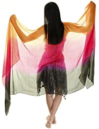 The Turkish Emporium Voile de danse orientale rectangle en 100% soie 250 X110 CM