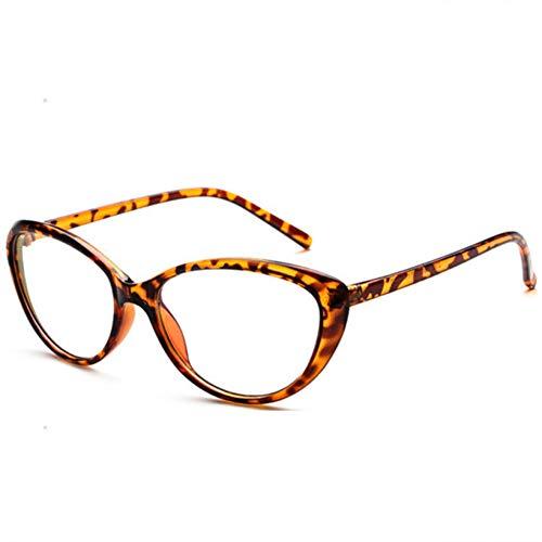 XCYQ Brillengestell Männer Frauen Brillen Rahmen Anti-Müdigkeit Brille Spektakel Weiblich Männlich Oval Spiegelglas Frames