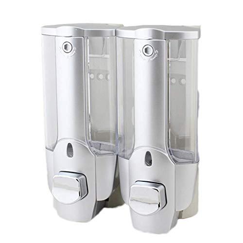 XHCP Einfacher Zugang zum transparenten Seifenspender Zwei in einem Badezimmer Kunststoff Händedesinfektionsmittel Flasche Shampoo mit großer Kapazität Duschgel-Box Beseitigen Sie Abfälle (Farbe: