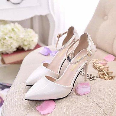 Moda Donna Sandali Sexy donna tacchi Primavera / Estate / Autunno tacchi / Punta partito in pelle e la sera abito / Stiletto Heel fibbia Silver
