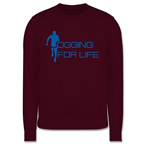 Laufsport - Jogging for Life - Herren Premium Pullover Burgundrot
